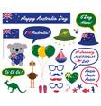 australia day design elements vector image vector image