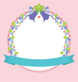 beautiful flower frame love concept pink vector image vector image
