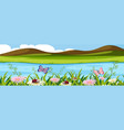 beautiful water nature landscape vector image