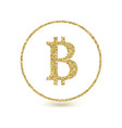 bitcoin icon with glitter effect isolated on vector image vector image