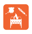 Brazier kebab and chicken icon vector image