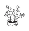 cactus for coloring books vector image