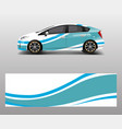car decal wrap design with wave element graphic vector image vector image
