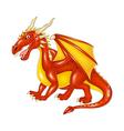 Cartoon dragon posing vector image vector image