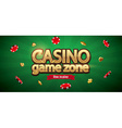 casino chips realistic theme with place for text vector image vector image