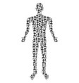 cemetery person figure vector image vector image