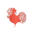 Chinese New Year 2017 rooster design Cock - vector image vector image