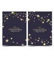 christmas golden stars vector image vector image