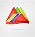 Colorful 3d logo vector image vector image