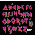 Creative colorful alphabet rock style vector image vector image