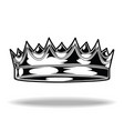 crown black and white king queen 2 vector image