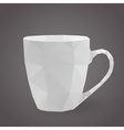 cup triangle vector image vector image