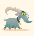 cute cartoon goat running vector image