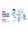 data analytics platform isometric landing vector image vector image