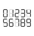 digital numbers digits display vector image