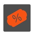 Discount Label Rounded Square Button vector image
