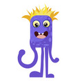 drawing a good monster childish purple octopus vector image vector image