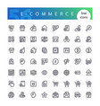 e-commerce line icons set vector image vector image