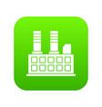 factory building icon digital green vector image vector image