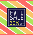 fall sale banner for online shopping with discount vector image vector image