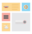 flat icon pipeline set of roll heater drain and vector image vector image