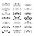 floral decorative design element collection vector image vector image