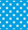 fresh burger pattern seamless blue vector image vector image