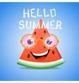 funny cartoon piece watermelon vector image vector image