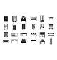 furniture icon set simple style vector image vector image