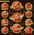 golden and red retro badges and labels collection vector image vector image