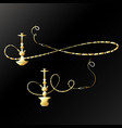 golden hookah unique design vector image