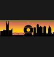 guangzhou city skyline vector image