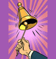 hand ringing the bell vector image