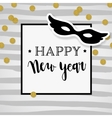 Happy New Year greeting card invitation Party vector image vector image