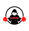hoodie fitness strength gym design vector image vector image