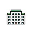 hospital nursing home flat color line icon vector image