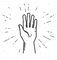 Human hand giving a high five vector image vector image