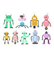 kids robots electronic toys different vector image