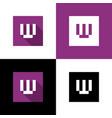 letter w logo icon design pixel art style vector image vector image