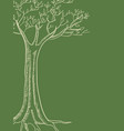line art of a tree vector image vector image