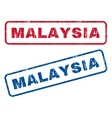 Malaysia Rubber Stamps vector image vector image