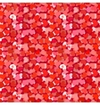 Many red and pink hearts seamless pattern vector image