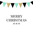 merry christmas happy new year card hand vector image