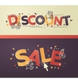 Modern flat design Discount Sale lettering with vector image