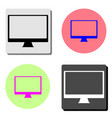 monitor pc computer screen flat icon vector image