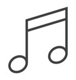 music line icon web and mobile note sign vector image vector image