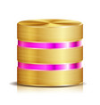 network database disc icon realistic vector image vector image