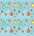 New year christmas memphis seamless pattern