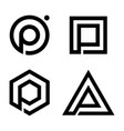 p logo vector image