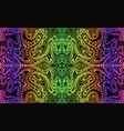 psychedelic trippy colorful fractal mandala neon vector image vector image